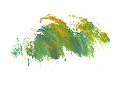 Abstract oil stroke design on paper in high resolution.