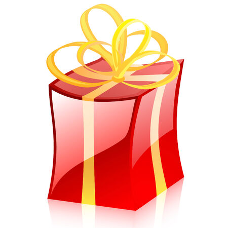 Colored vector gift Vector