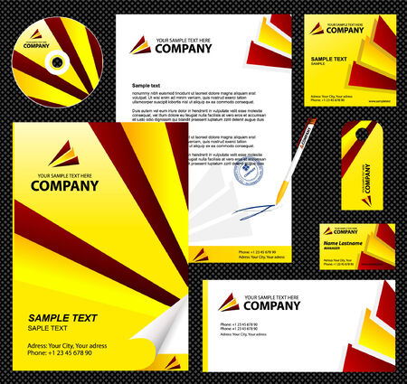 Editable corporate Identity template 5 Stock Vector - 4927686