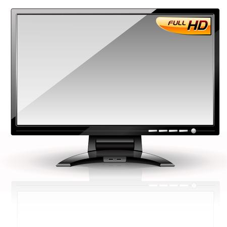 LCD Panel: Grey variant. Editable vector