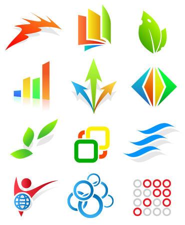 logo vector: Colorful design elements. Editable vector.