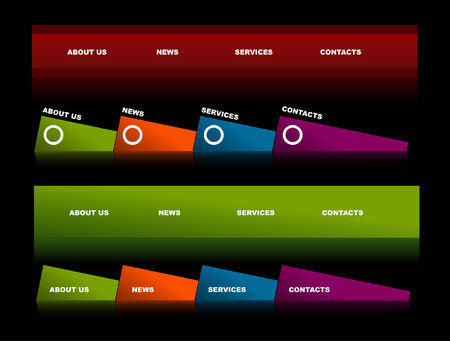 Easy to edit stylish website navigation templates 2