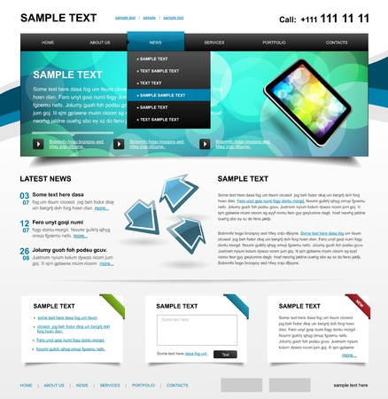 Website Template 4  Color variant 1 Vector
