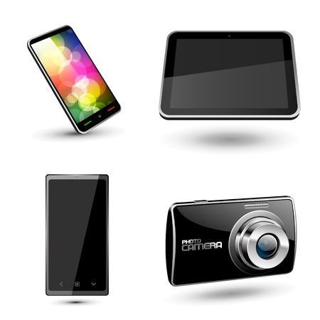 Set of various mobile devices icons  Vector Stock Vector - 13500443