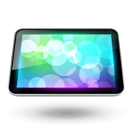 Fictitious touch tablet 6, with background