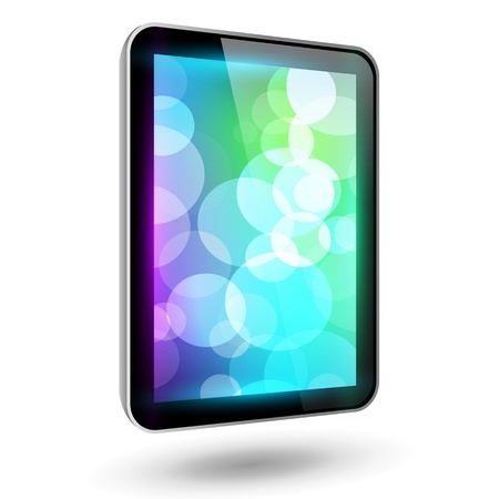 Fictitious touch tablet 6, vertical variant