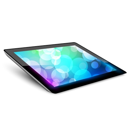 Tablet pc. Variant without hand.  White background. Illustration