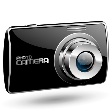 Vector Photo camera 2 (black) Vector