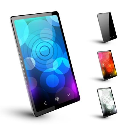 Modern smartphone 5  Varant on white Vector