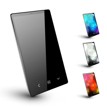 Modern smartphone 5  No background Illustration