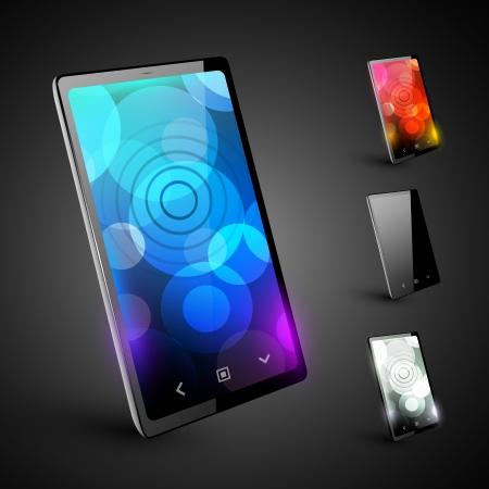 tv screen: Modern smartphone 5  Varant on dark