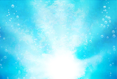 Abstract background with lights  lights and blebs in water. Vector illustration Ilustrace