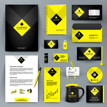 jewels: Professional  luxury universal branding design kit for jewelry shop, cafe, restaurant, hotel. Golden style with yellow. Premium corporate identity template. Illustration