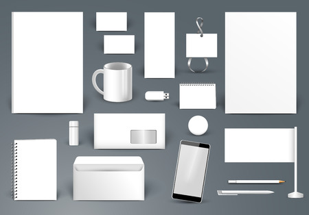 Corporate identity template without text and