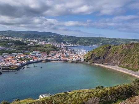Horta Capital of Faial Island 免版税图像
