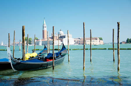 Shot of the ocean at Venice, gondole included