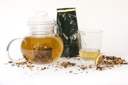 teabag: A Jar, a Glass and a bunch of tea