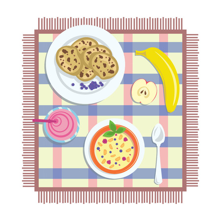 wholesome: oatmeal with berries and wholesome food for breakfast