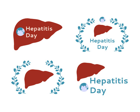hepatitis prevention: Silhouette of human liver for World Hepatitis Day