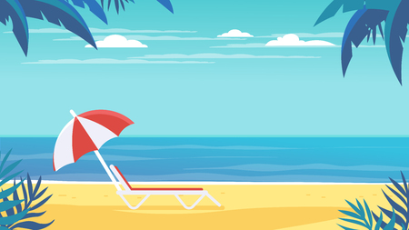 background,beach,chaise lounge,clouds,coast,fern,flat,freedom,holiday,horizon,illustration,island,journey,landscape,nature,ocean,on a rest,outdoor,palm,palm tree,relaxation,resort,sand,scene,scenery,s  イラスト・ベクター素材