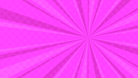 Pop art colorful dotted and rays backgrounds. Comics page, advertisement frame, web design, poster. Illusztráció