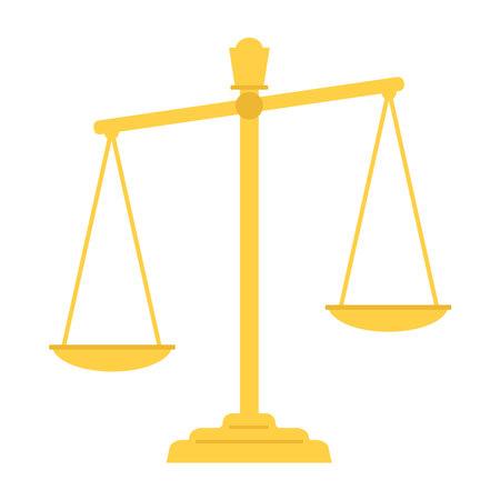 Scales of justice simple flat figure. Ilustrace
