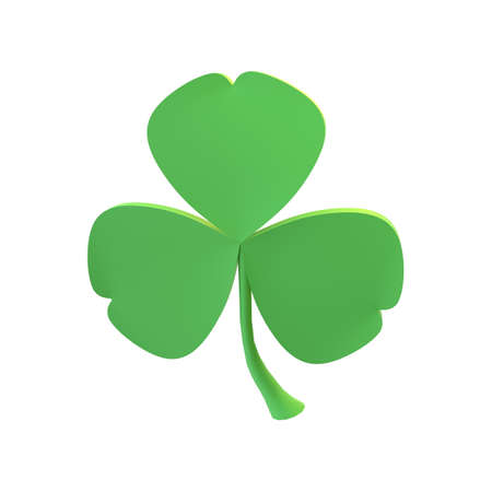 3d render St. Patrick's Day. Volumetric shamrock