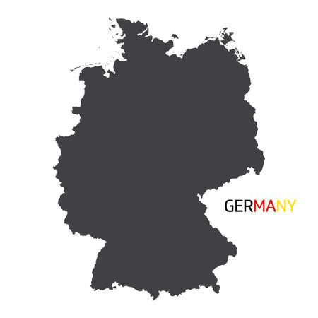 Vector German flag in map quality label icon.