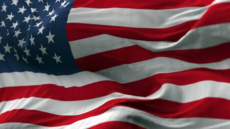 USA flag blowing on the wind, loopable slowmotion Stock Photo