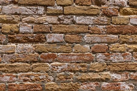 Old brown brick wall for your abstract, vintage background