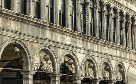 VENICE, ITALY - 25 August, 2018: Beautiful view of Doges Palace at Piazza San Marco, Venice, Italy Editorial