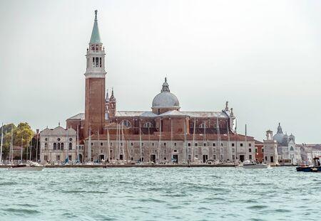 Great view on the Venice with San Giorgio di Maggiore church in the background Archivio Fotografico