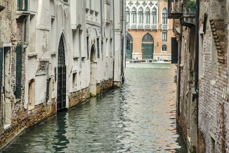 VENICE, ITALY - 25 August, 2018: Majestic canal in Venice, and water traffic Venice Italy Editoriali