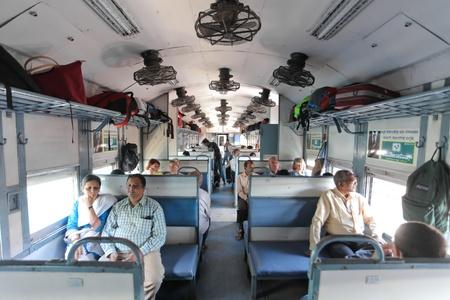 KARNATAKA JANUARY 30 : Passanger train carriage on the way to Gokarna on January 30, 2011. Indian railway is  world