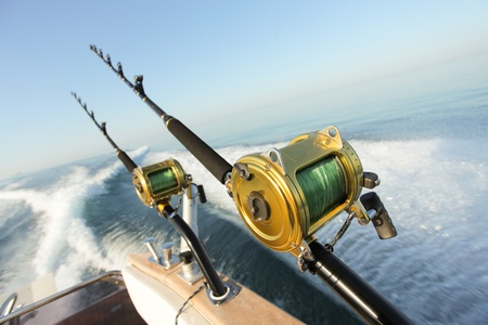 big game fishing reels and rods reels and rods Stock Photo - 12458066