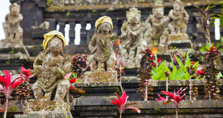 Old statues at the Mother Temple at Besakih in Bali, Indonesia