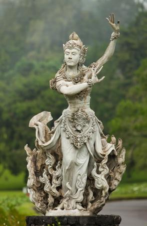 Hindu goddess in the botanical gardens in Bali, Indonesia.