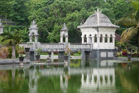 Architectural wonders at the Karangasem water temple in Bali, Indonesia photo