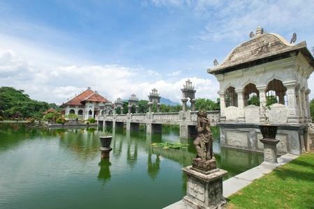 Architectural wonders at the Karangasem water temple in Bali, Indonesia Standard-Bild