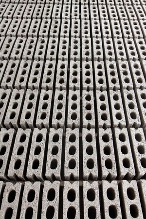 Repetition of grey hollow cement bricks as a background Stock Photo - 13330345