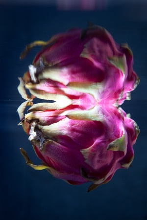 Abstract looking Dragon fruit underwater with surface reflection Stock Photo - 13383502
