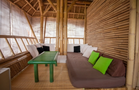 sitting area: SItting area in bamboo house in Bali