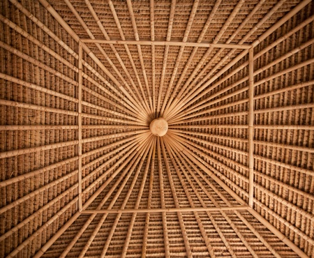 Bamboo ceiling pattern in bamboo house in Bali Stock Photo - 13678116