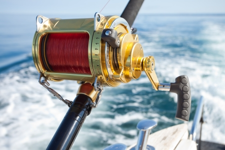 trolling: big game fishing reels in natural setting