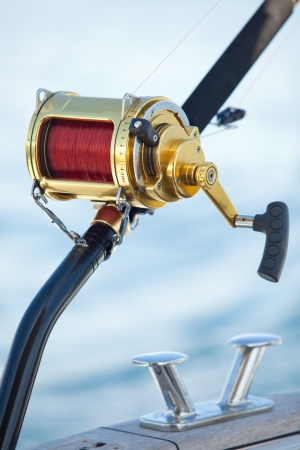 big game fishing reels in natural setting photo