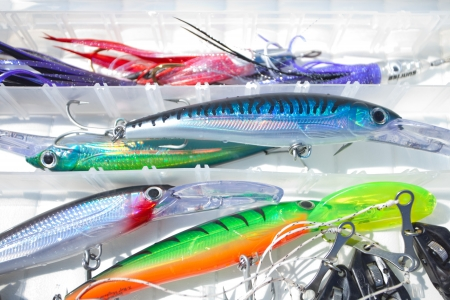 colorfull fishing lures