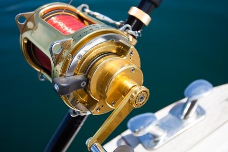big game: grande pesca mulinello gioco in ambiente naturale