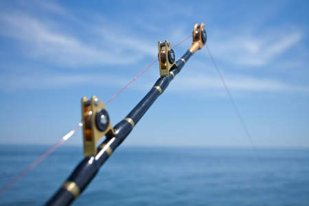 big game fishing reel in natural setting Stock Photo - 13821051