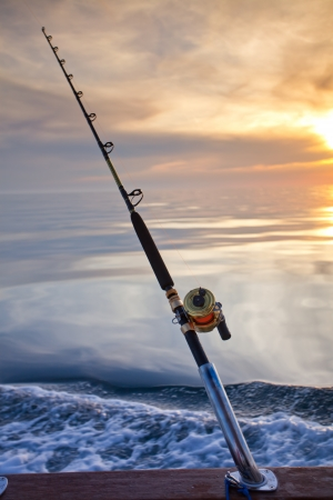 Big Game Fishing reel in natürlicher Umgebung Standard-Bild - 13821185
