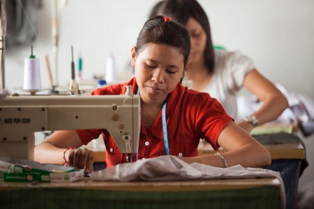 factory worker: small textile factory